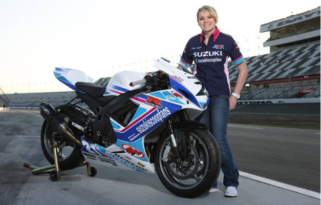 Today 17 Yr Old Elena Myers To Ride Motogp Suzuki Weridemotorsports Com