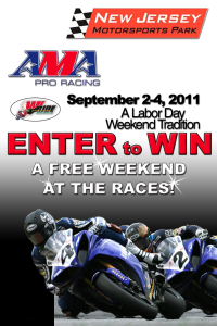New Jersey Motorsports Park Ticket Giveaway - AMA Race Weekend Championship
