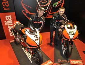 2012 Aprilia Racing Team - Max Biaggi and Eugene Laverty