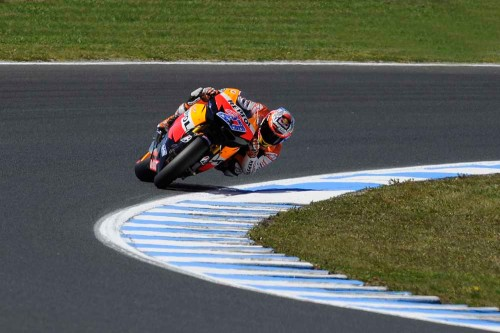 Casey Stoner Sliding - Front perspective | We Ride Motorsports