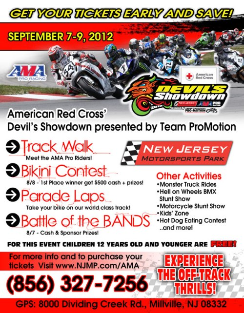 Free Tickets to the AMA Races at New Jersey Motorsports | We Ride Motorsports