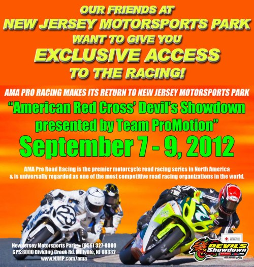 Free Tickets to the AMA Races at New Jersey Motorsports |We Ride Motorsports
