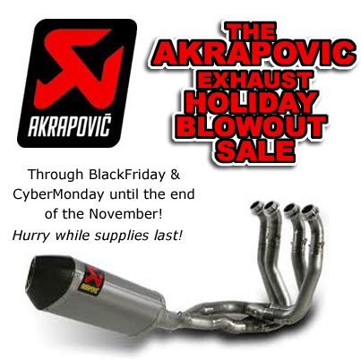 Akrapovic Exhaust Blowout Sale | We Ride Motorsports