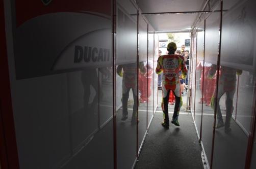 Valentino Rossi's last race with Ducati