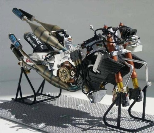 Valentino Rossi's 2001 - 2002 MotoGP Championship Race Winning Honda NSR 500