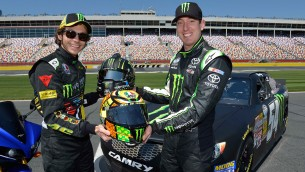 Valentino Rossi Drives Kyle Busch's NASCAR ride