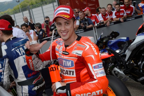 MotoGP Andrea Dovisioso and Ducati at Mugello on the first row