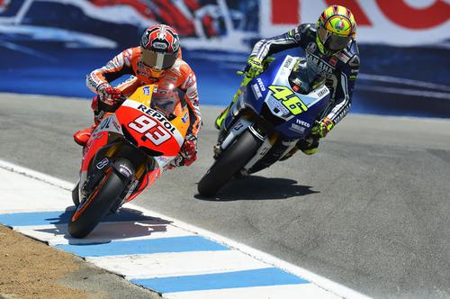 marquez rossi motogp mazda racewaylaguna seca 2013
