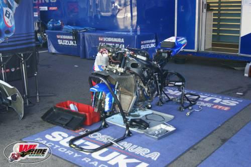 Yoshimura Suzuki paddock
