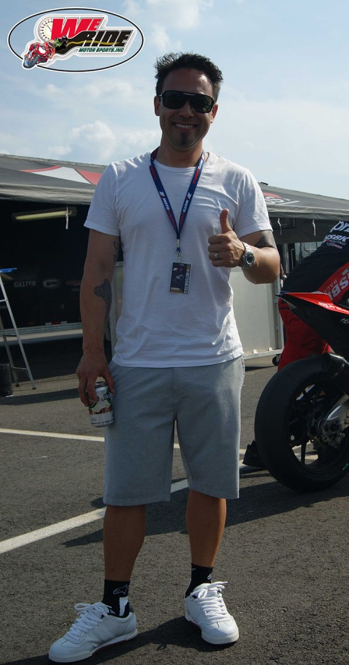 Jake Zemke gives We Ride Motorsports the thumbs up.